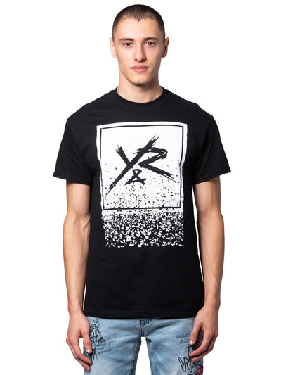 Young and Reckless Mens - Tees - Graphic Tee Crumbling Box Logo Tee - Black