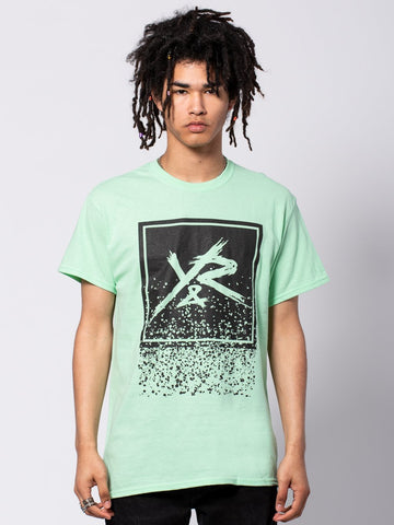 Young and Reckless Mens - Tees - Graphic Tee Crumbling Box Logo Tee - Ice Green