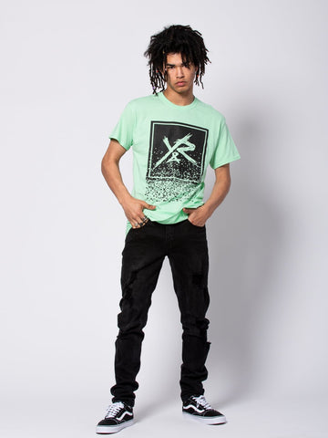 Crumbling Box Logo Tee - Ice Green