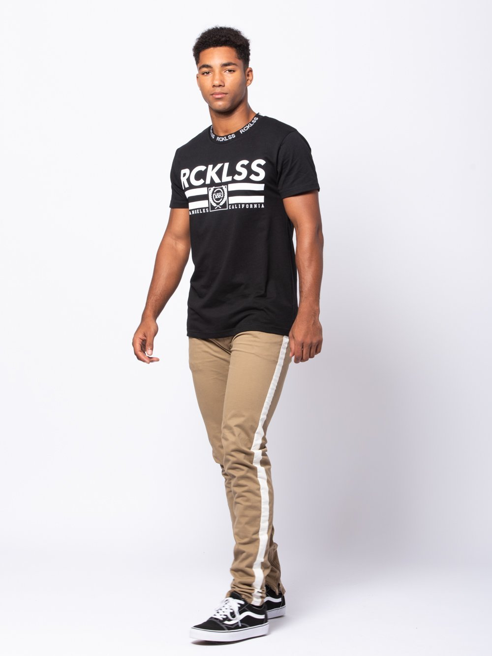 Young and Reckless Mens - Tees - Graphic Tee Cutlass Tee - Black