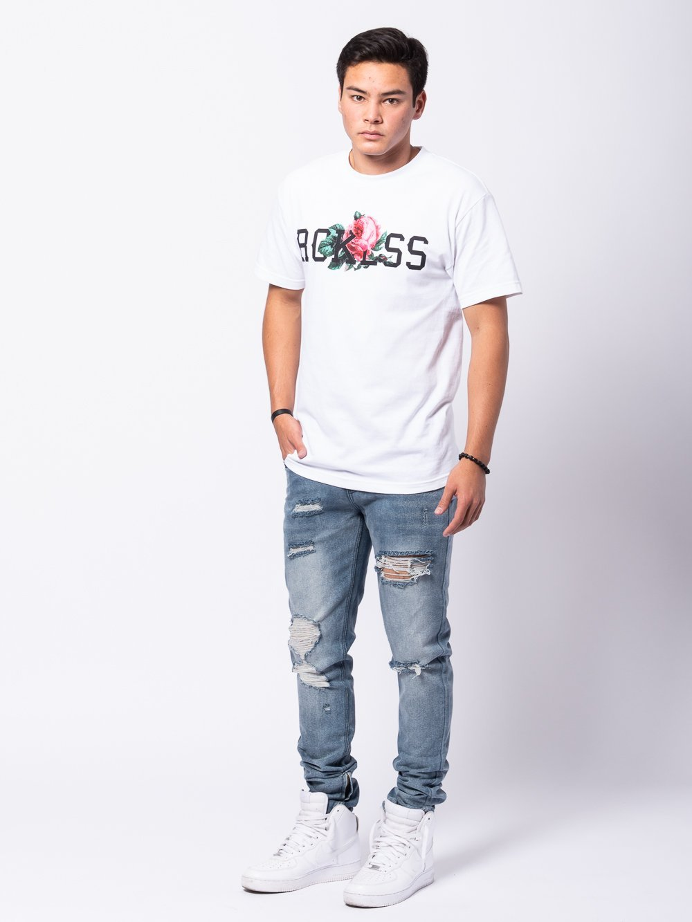 Young and Reckless Mens - Tees - Graphic Tee Descanso Tee - White