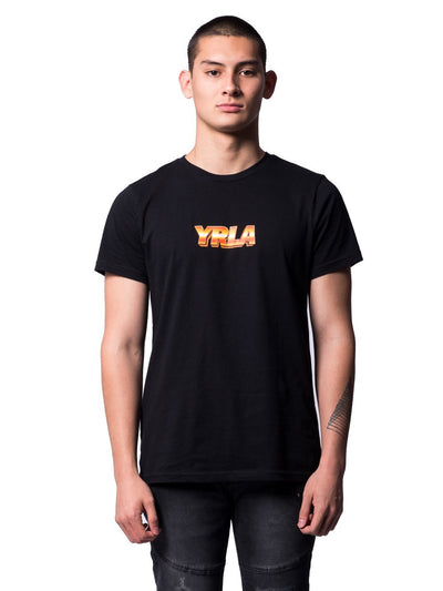 Young and Reckless Mens - Tees - Graphic Tee Desert Breeze Tee- Black