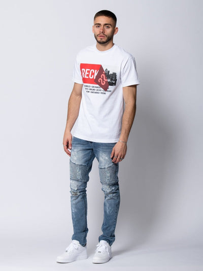 Young and Reckless Mens - Tees - Graphic Tee Detached Tee - White S / WHITE