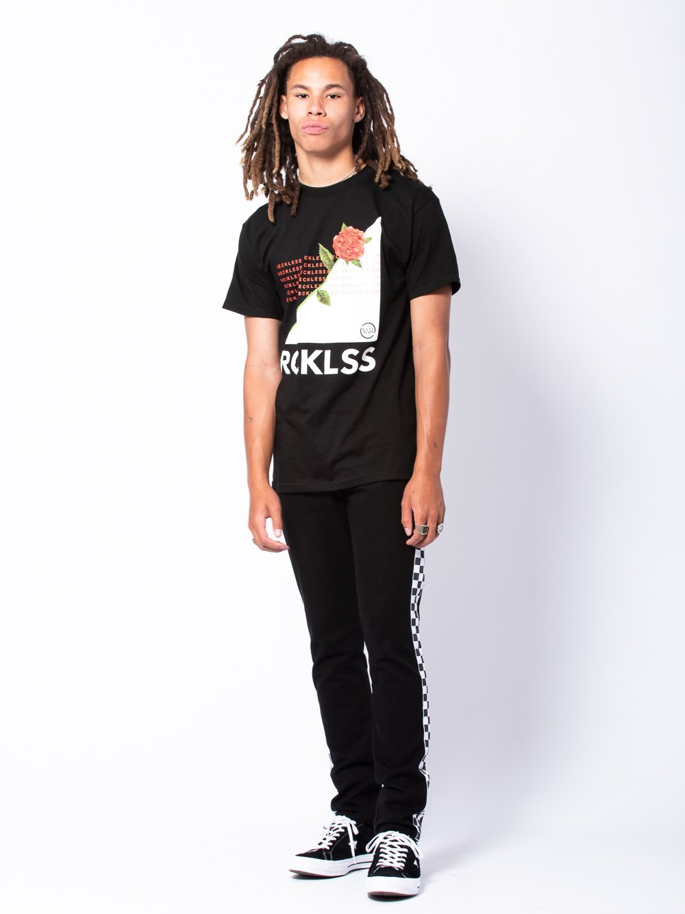 Young and Reckless Mens - Tees - Graphic Tee Disheartened Tee - Black/White