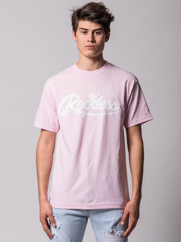 Young and Reckless Mens - Tees - Graphic Tee Drip Tee - Pink