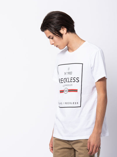 Young and Reckless Mens - Tees - Graphic Tee Dual Contraband Tee - White