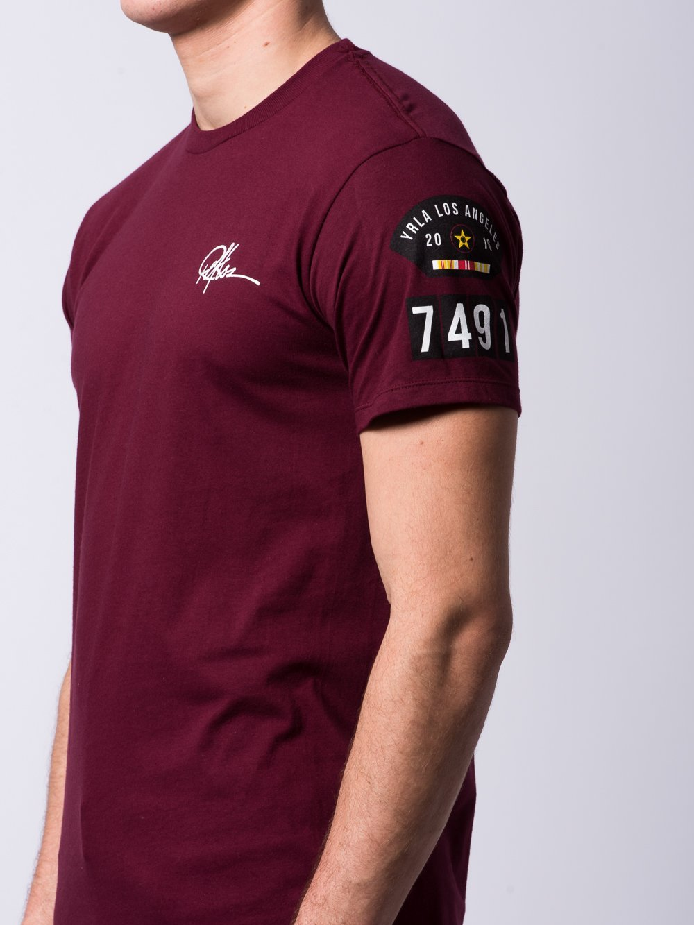 Young and Reckless Mens - Tees - Graphic Tee Eagle Eye Tee - Burgundy