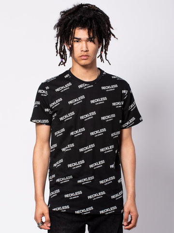 Young and Reckless Mens - Tees - Graphic Tee Encore Tee - Black