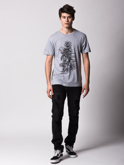 Young and Reckless Mens - Tees - Graphic Tee Eternal Tee - Heather Grey