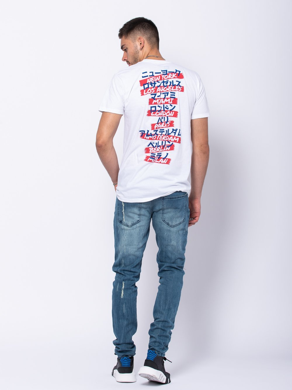 Young and Reckless Mens - Tees - Graphic Tee Exchange Rate Tee - White