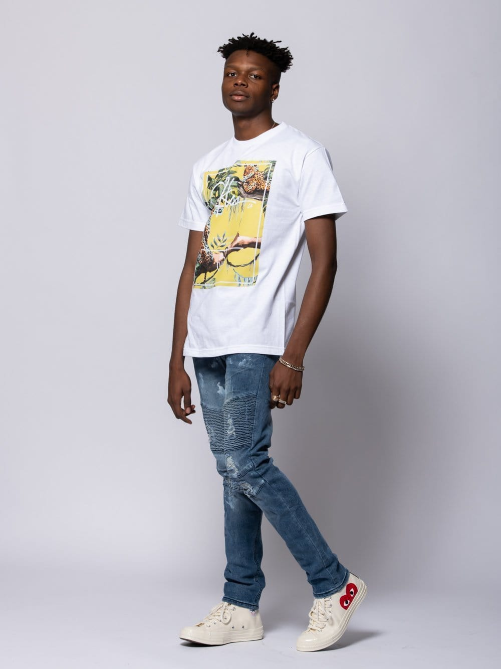 Young and Reckless Mens - Tees - Graphic Tee Exotic Tee - White S / WHITE