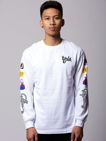 Young and Reckless Mens - Tees - Graphic Tee First Team Long Sleeve Tee- White