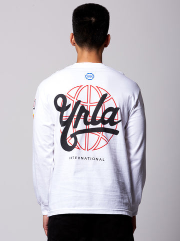 First Team Long Sleeve Tee- White