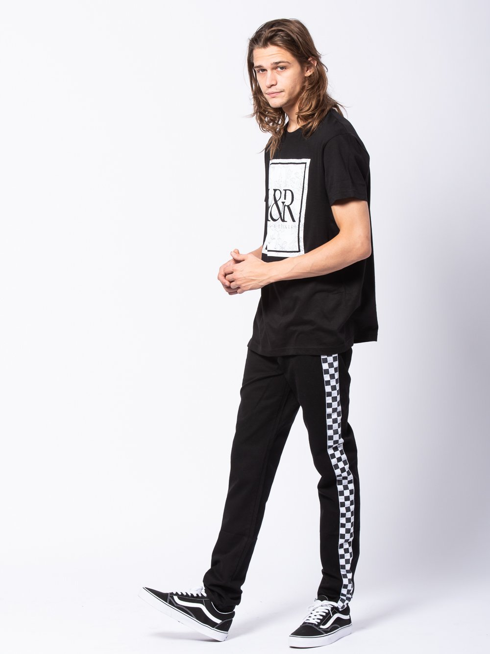 Young and Reckless Mens - Tees - Graphic Tee Flourished Tee - Black