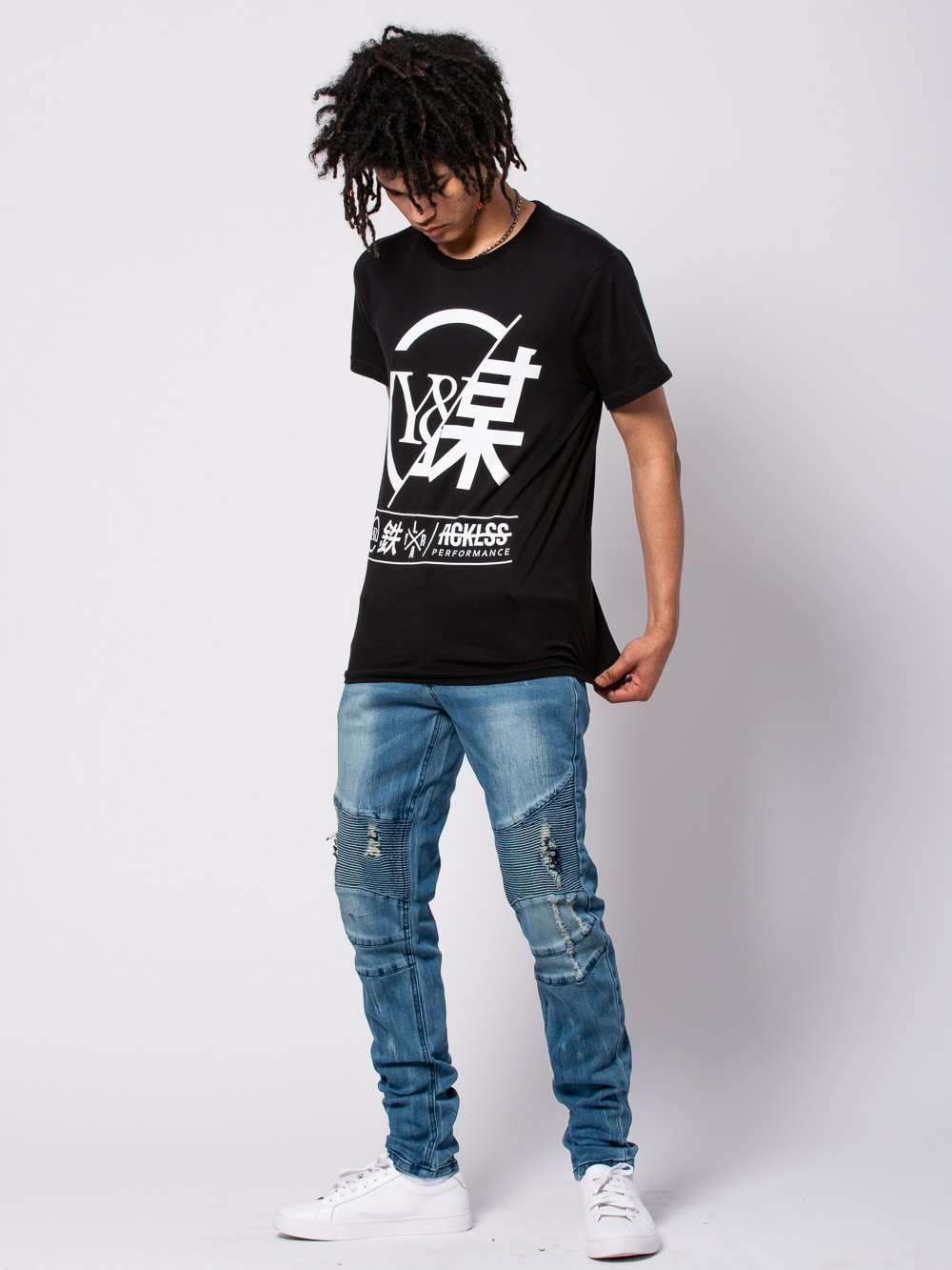 Young and Reckless Mens - Tees - Graphic Tee Foreign Exchange Tee - Black