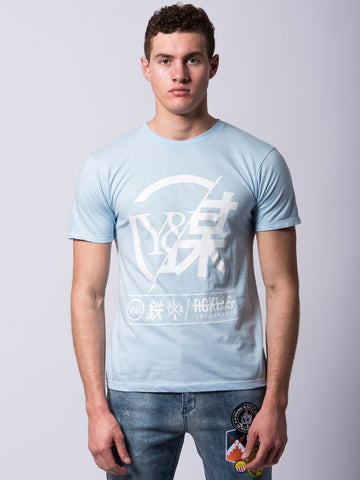 Young and Reckless Mens - Tees - Graphic Tee Foreign Exchange Tee - Light Blue
