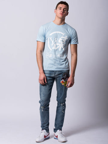 Foreign Exchange Tee - Light Blue