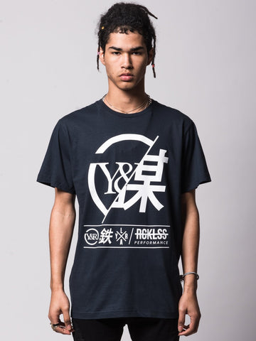 Young and Reckless Mens - Tees - Graphic Tee Foreign Exchange Tee - Navy