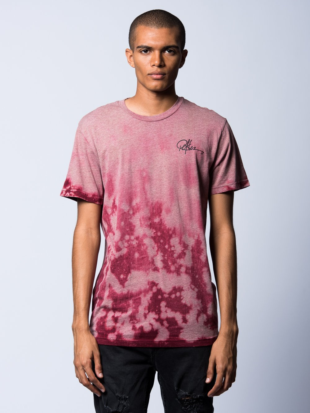 Young and Reckless Mens - Tees - Graphic Tee Fossil Tee- Burgundy Dye
