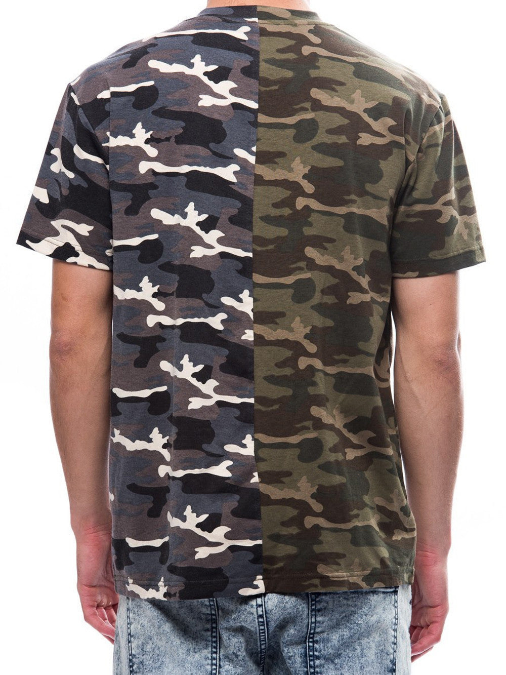 Young and Reckless Mens - Tees - Graphic Tee Fragment Tee- Camo