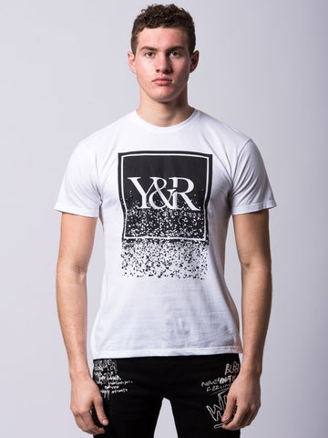 Young and Reckless Mens - Tees - Graphic Tee Fragment Trade Tee - White
