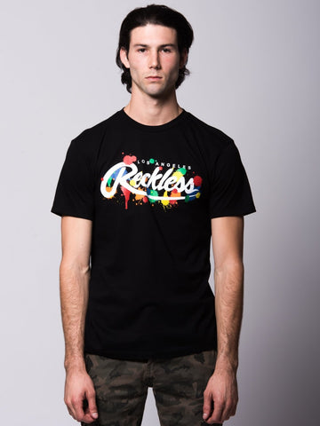 Young and Reckless Mens - Tees - Graphic Tee Franz Tee - Black