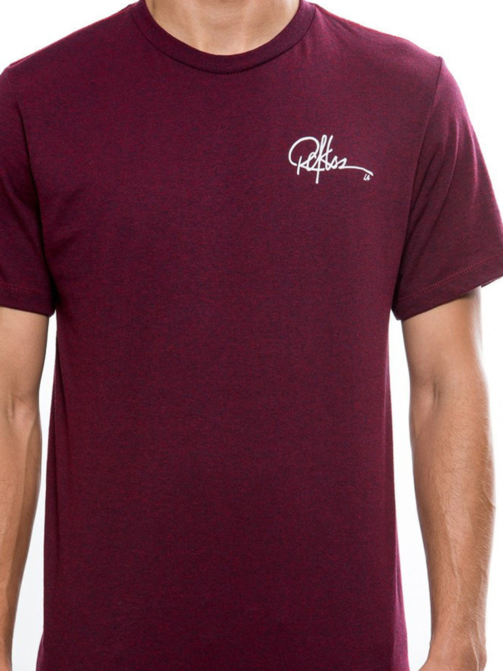 Young and Reckless Mens - Tees - Graphic Tee Full Sig Tee - Cranberry