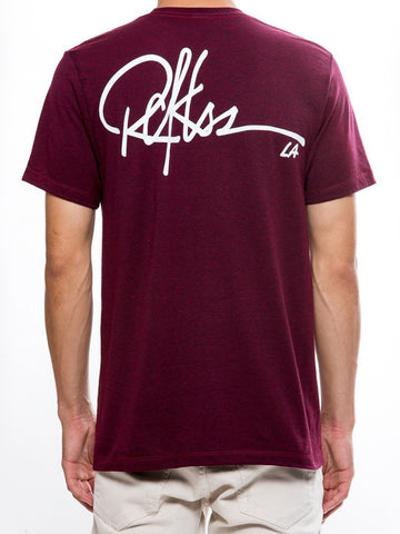 Full Sig Tee - Cranberry