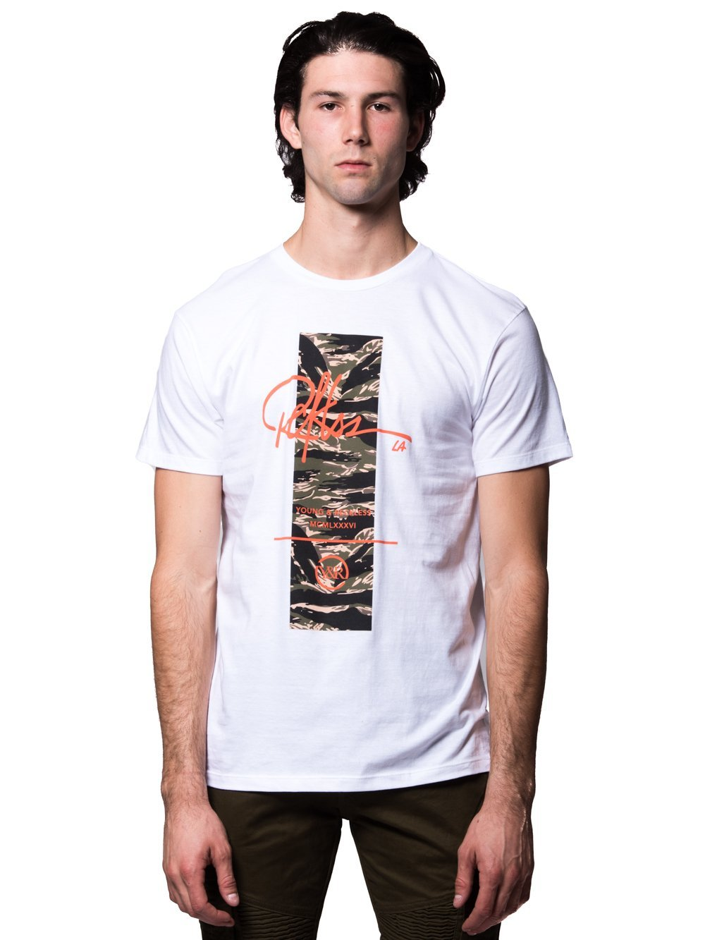 Young and Reckless Mens - Tees - Graphic Tee Gamma Tee - White