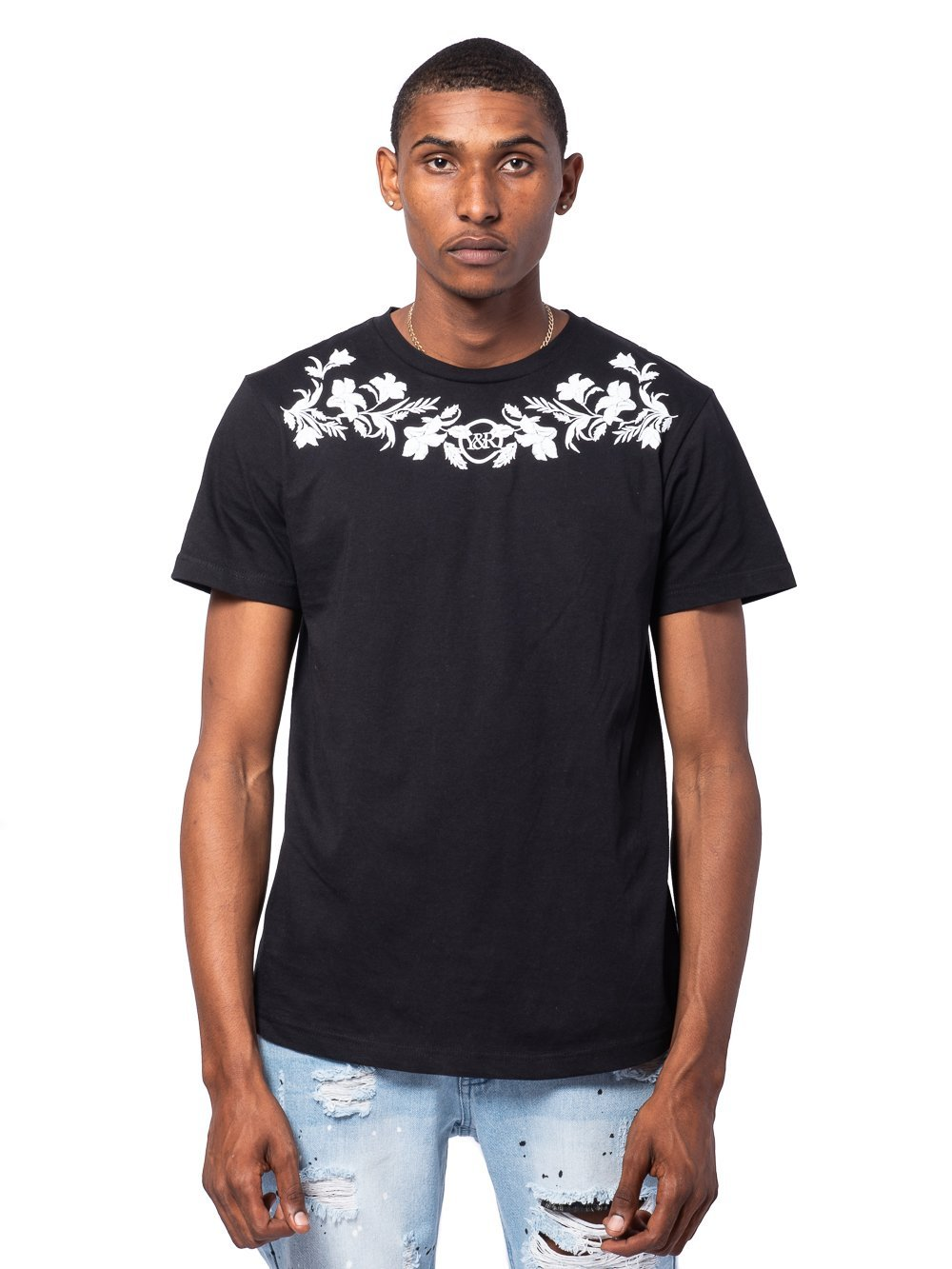 Young and Reckless Mens - Tees - Graphic Tee Garland Tee - Black