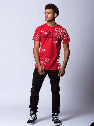 Young and Reckless Mens - Tees - Graphic Tee Griffon Tee - Red