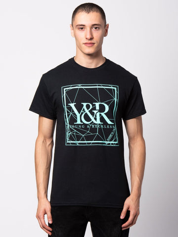 HD Crossed Lines Tee - Black