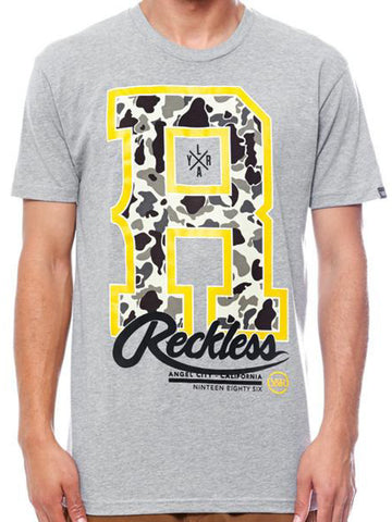 Young and Reckless Mens - Tees - Graphic Tee HD Hangar Tee- Heather