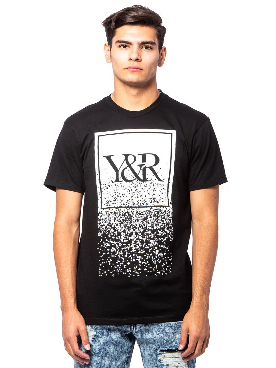 d2d96e54 Young and Reckless Mens - Tees - Graphic Tee HD Trademark Crumble Tee- Black