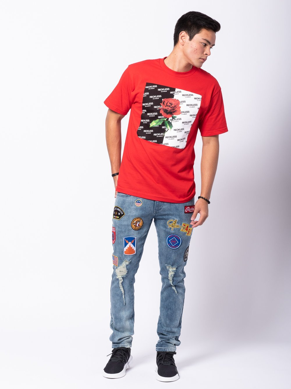 Young and Reckless Mens - Tees - Graphic Tee Heartbreaker Tee - Red