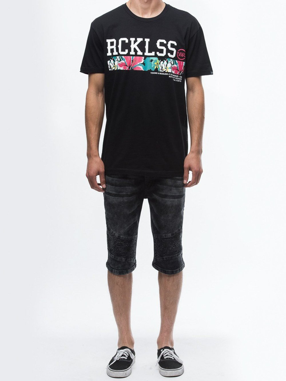 Young and Reckless Mens - Tees - Graphic Tee High Boarders Tee - Black