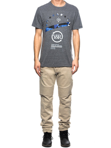 Young and Reckless Mens - Tees - Graphic Tee Horizon Tee- Charcoal