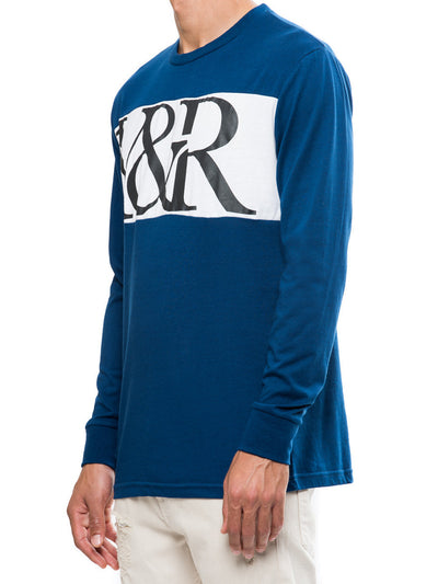 Young and Reckless Mens - Tees - Graphic Tee Hybrid Long Sleeve- Navy