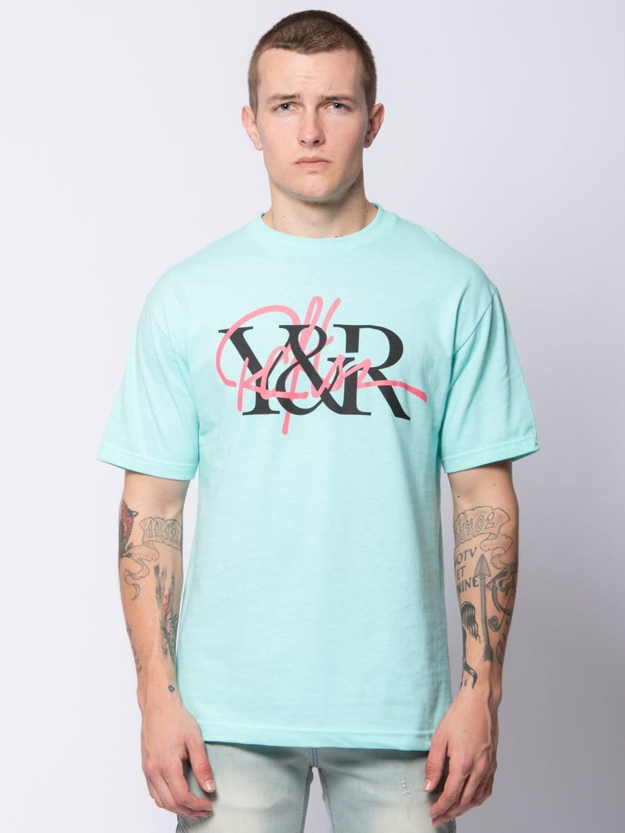 Young and Reckless Mens - Tees - Graphic Tee Intertwined Tee - Celadon S / CELADON