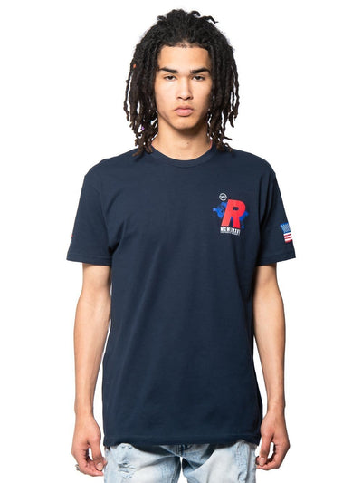 Young and Reckless Mens - Tees - Graphic Tee Intramural Tee - Navy S / NAVY