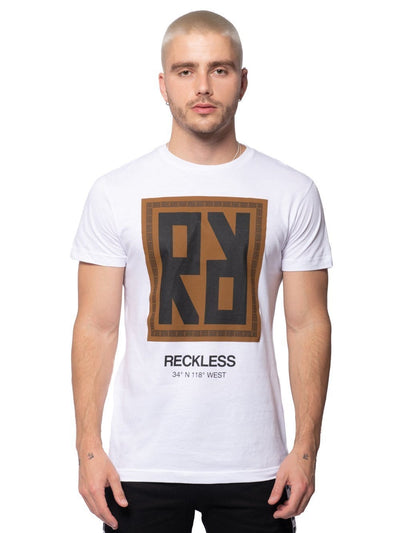 Young and Reckless Mens - Tees - Graphic Tee Invert Tee - White S / WHITE