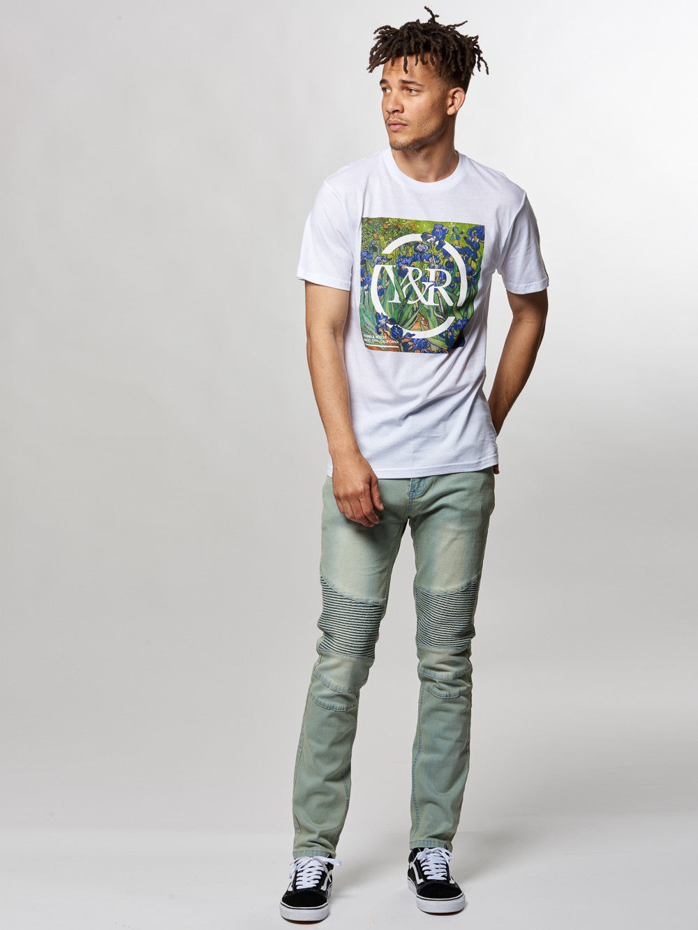 Young and Reckless Mens - Tees - Graphic Tee Iris Tee- White