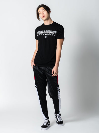 Young and Reckless Mens - Tees - Graphic Tee Jet Set Tee - Black