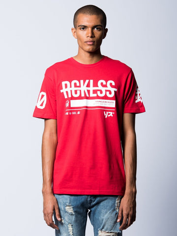 Young and Reckless Mens - Tees - Graphic Tee Kyoto Tee- Red