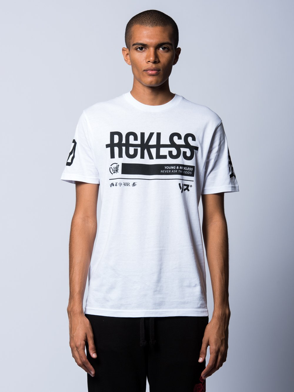 Young and Reckless Mens - Tees - Graphic Tee Kyoto Tee- White