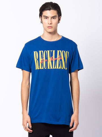 Young and Reckless Mens - Tees - Graphic Tee LA Vintage Tee - Royal Blue