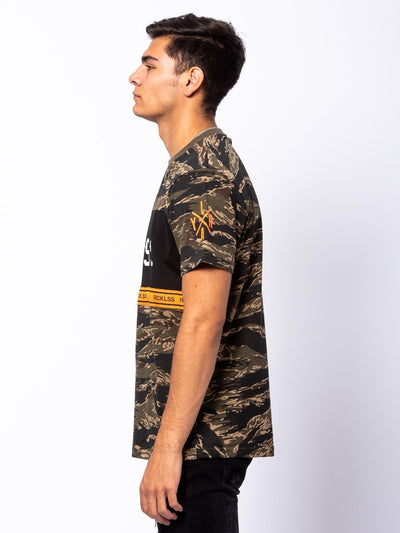 Young and Reckless Mens - Tees - Graphic Tee Lane Change Converge Tee - Camo Green