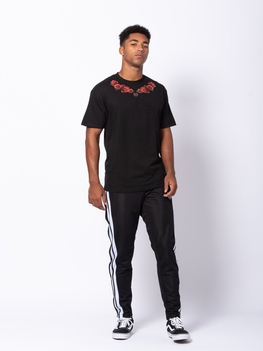 Young and Reckless Mens - Tees - Graphic Tee Laurel Tee - Black