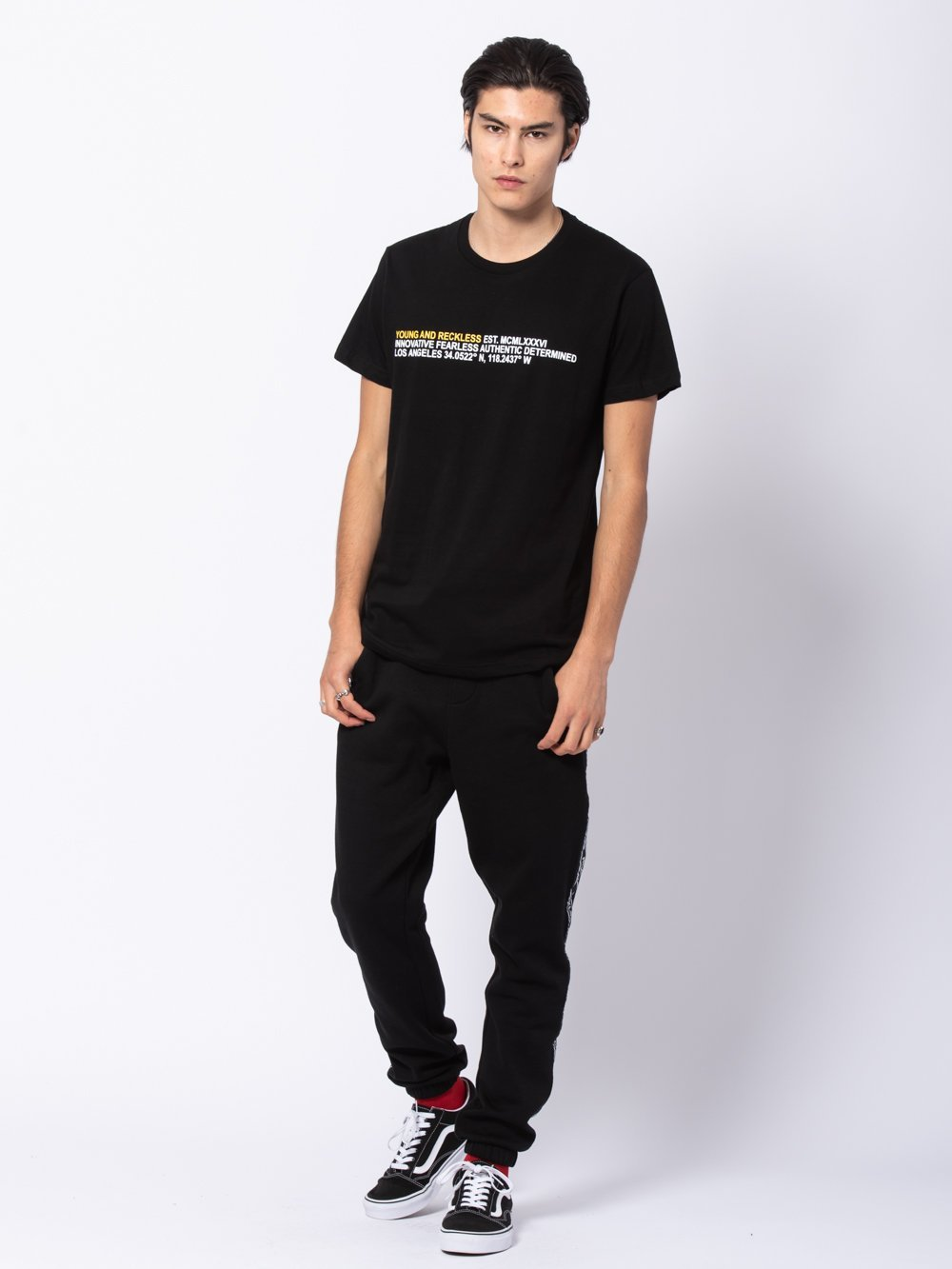 Young and Reckless Mens - Tees - Graphic Tee Legend Tee - Black