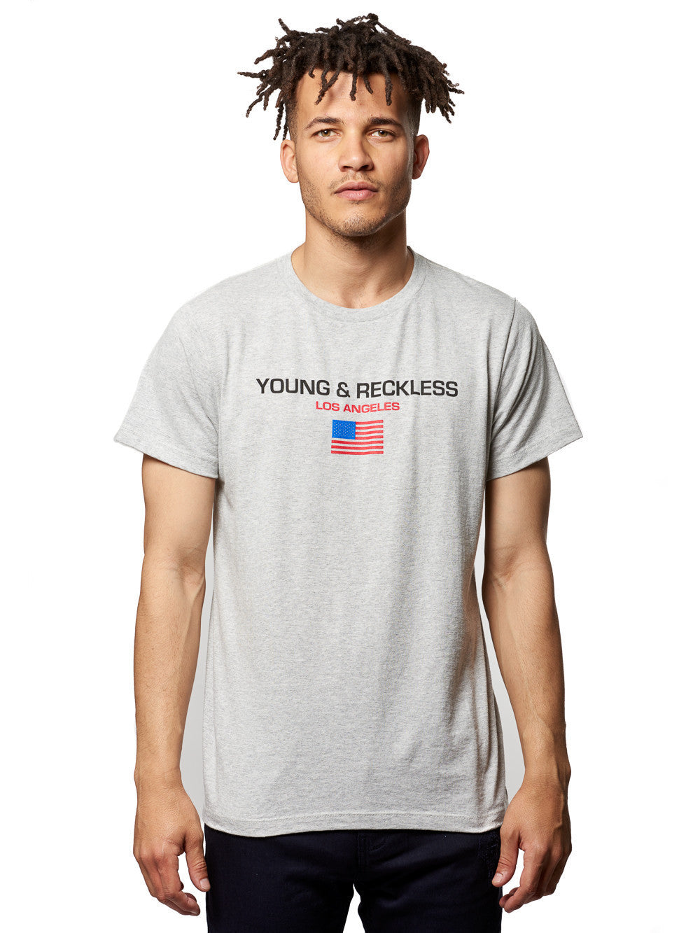 Young and Reckless Mens - Tees - Graphic Tee Liberty Tee- Concrete